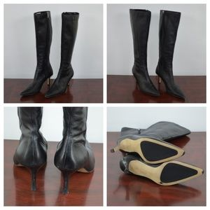 Anne Klein black pointed toe stiletto heel size 10